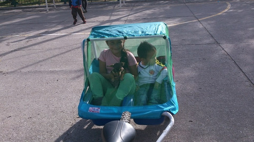 carrito trailer remolque para bicicleta para niños o mascota