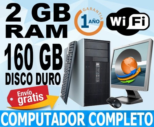 computador -monitorlcd17-disco160gb-ram2gb-wifi-enviogratis