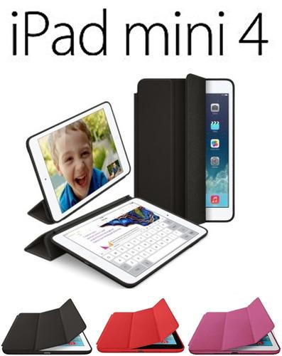 estuche  smart case en cuero para ipad mini 4 caja
