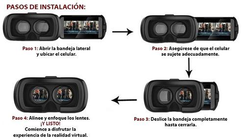 gafas  realidad virtual vr box 3d / shinecon 360º + regalo