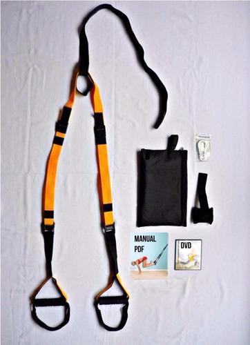 kit de entrenamiento suspención trx crossfit gimnasio rip 60