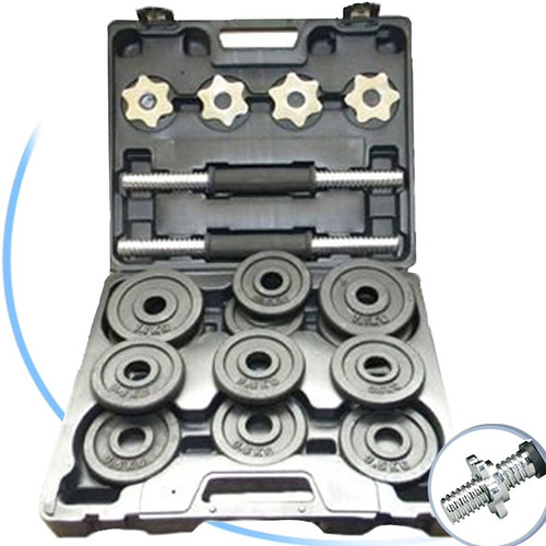 kit de mancuernas de 24lb-pesas con un par de mancuernas