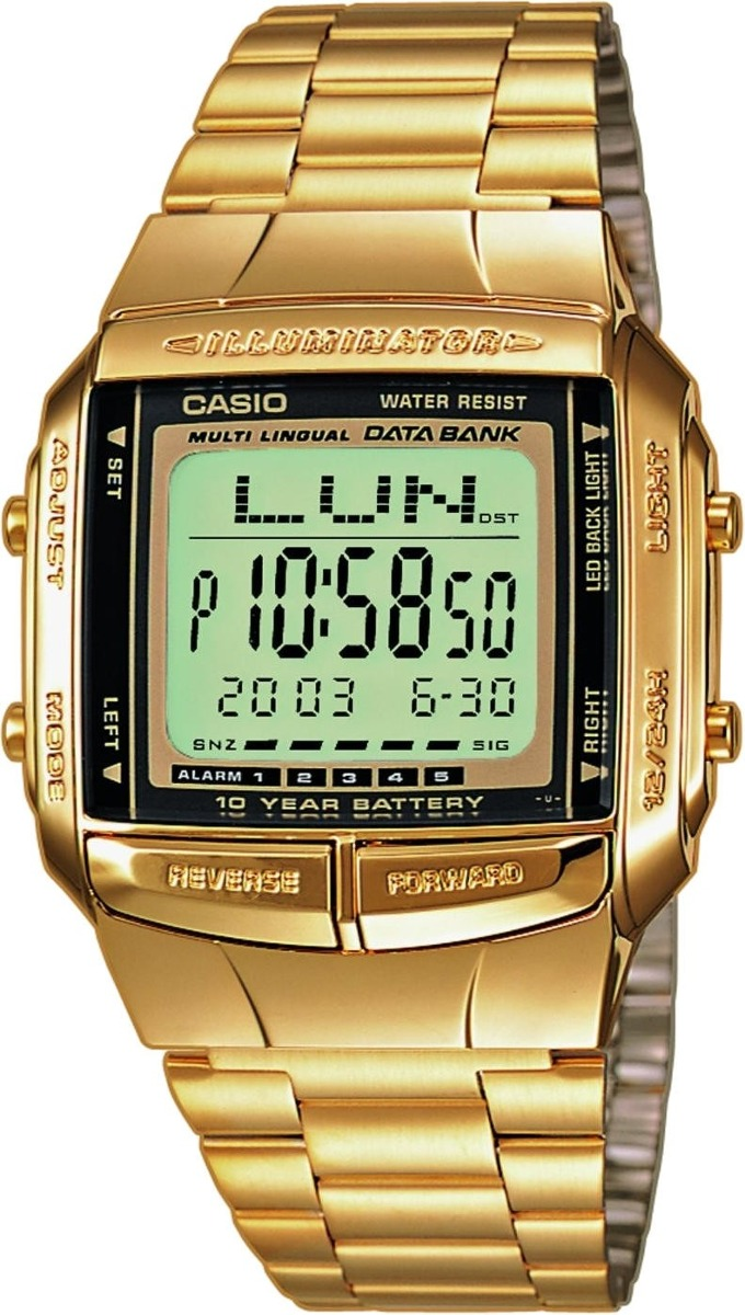 Resultado de imagen para Reloj Casio Db360 Telememo 30-Dorado