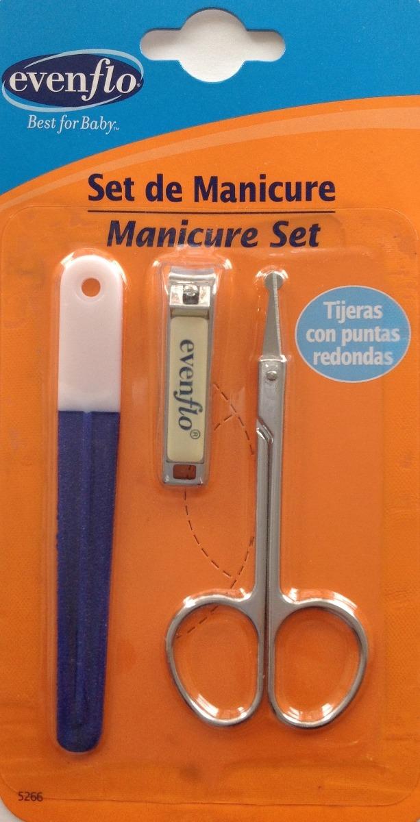 Set De Baño Para Bebe:Set De Manicure Para Bebe Evenflo Lima,cortaúñas,tijeras – $ 15900