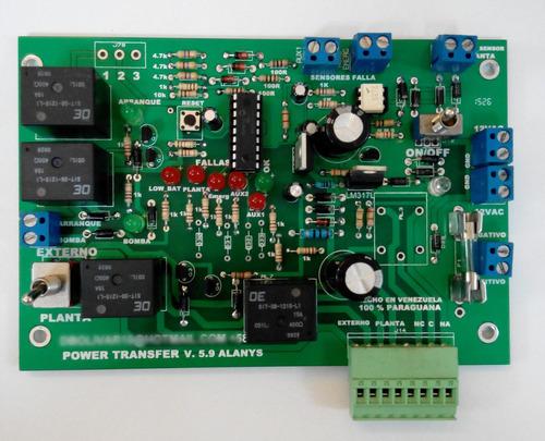 transferencia automática para plantas electricas transfer