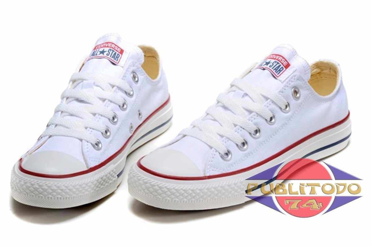 zapatos converse all star blancos